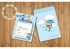Resultat d'imatges de doraemon invitation card