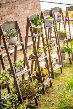Maa Hoo for Stocksy United is part of Plant shelves - Garden Design Ideas On A Budget, Pallet Garden Benches, Vertical Garden Design, Plant Shelves, Garden Boxes, Plant Holders, Plant Decor, Planting Succulents, Garden Inspiration