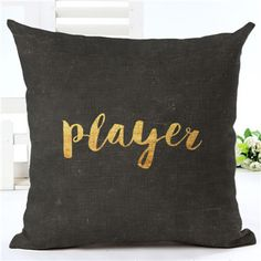Just In Talk to Me Black ... Shop Now! http://www.shopelettra.com/products/talk-to-me-black-and-gold-18-x-18-pillow-cover?utm_campaign=social_autopilot&utm_source=pin&utm_medium=pin