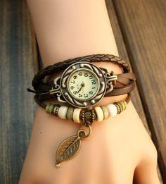 reloj mujer moda cuero varios colores | eBay (¡LO QUIEROOOO!).