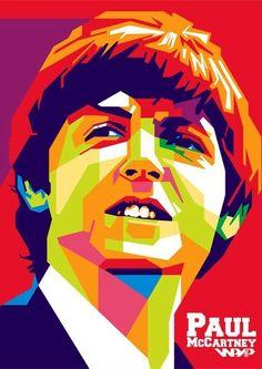 Ideas Music Poster Illustration The Beatles For 2019 Arte Pop, Jonh Lenon, Pop Art Poster, Jazz Poster, Illustration Pop Art, Beatles Art, Pop Art Portraits, Music Artwork, Vector Portrait