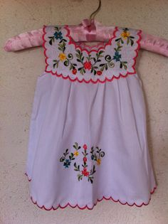 Beautiful child mexican dress hand embroidered by MexicanColorsArt