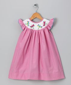 Molly Pop Inc. pink smocked dragonfly dress