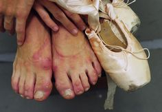 Paloma Herrera's feet. It's not all about tutus and sweet awesomeness