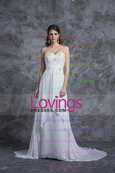 2013 Wedding Dresses Empire Waist Sweetheart Chiffon With Beading&Sequince US$ 209.99 LDPCHGQR3F - lovingsdresses.com