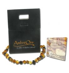 Véritable collier d'ambre, olive, soulage les douleurs dentaires et calme les bébés