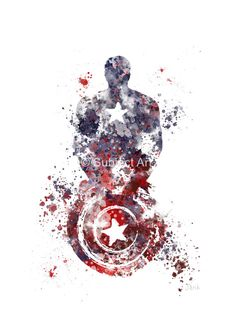 Captain America ART PRINT illustration Superhero by SubjectArt