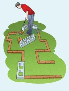 Have the kids help out with a backyard mini golf course that Dad will love.