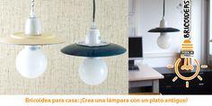 ¡Brocas de diamante para crear una lámpara con un plato de cerámica!
