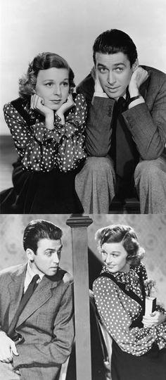 Jimmy Stewart and Margaret Sullavan in The Shoppe Around The Corner - Excellent movie, the remake is You've got mail!