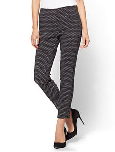 Shop 7th Avenue - High-Waist Pull-On Ankle Legging - Ultra Stretch - Dot Print. Find your perfect size online at the best price at New York & Company.