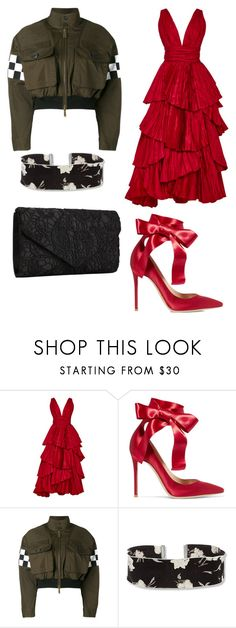 """""""Untitled #70"""" by simple7-1 ❤ liked on Polyvore featuring Oscar de la Renta, Gianvito Rossi, Dsquared2 and Steve Madden"""