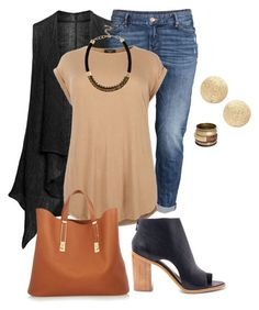 plus size fall chic by kristie-payne on Polyvore featuring Isolde Roth, H&M, Loeffler Randall, Sophie Hulme, Nordstrom and River Island