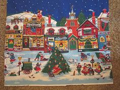 I love this holiday scene on fabric