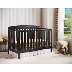 Ocean safetygate crib converted into toddler bed http