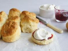Light and fluffy scones paired with soft cream and sweet jams are the classic afternoon tea delight. Your high tea will be complete with these scone recipes from the traditional plain scone to pumpkin or lemonade scones. Easy Brunch Recipes, Dessert Recipes, Scone Recipes, Sweet Recipes, Appetizer Recipes, Bread Recipes, Yummy Recipes, Appetizers, Lemonade Scone Recipe