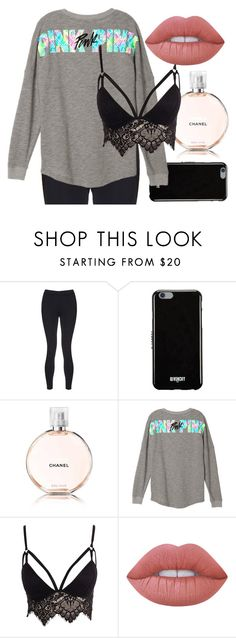 """""""Sin título #10"""" by sarai-almaguer on Polyvore featuring moda, Sweaty Betty, Givenchy, Chanel, Club L y Lime Crime"""
