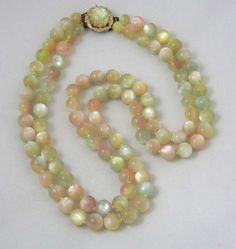 Vintage Moonglow Lucite Japan Pastel Faux by JellyBellyJewels, $32.98
