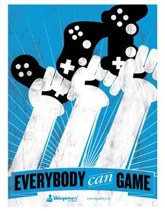 GameSetWatch 'Everybody Can Game' Poster For Charity #videogameposters #gameposters #gamerposters