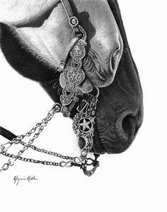 Little Heart & Texas Star by Glynnis Miller Pencil ~ 14 x 11