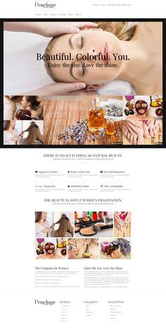 Penelope - is a new & unique #Beauty #Salon #WordPress #Theme.