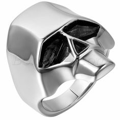 Men's High Polished Stainless Steel Skull Ring  Band Size 7-12 Halloween Gift #Unbranded #Band