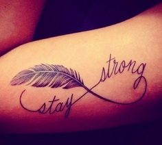 'Stay Strong Tattoo' After the year I have had I need this tattoo!