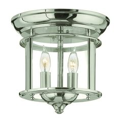 hinkley lighting 2 light semiflush ceiling fixture from the gentry collection