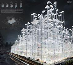 Image 10 of 21 from gallery of eVolo's 20 Most Innovative Skyscrapers. Diffused Boundaries Skyscraper / Satavee Kijsanayotin, Ben Novacinski, Hannah Mayer, Haydar Baydoun, Mingxi Ye, Zhifei Chen. Image Courtesy of eVolo