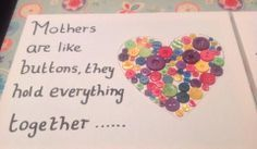 Mothers day craft with buttons
