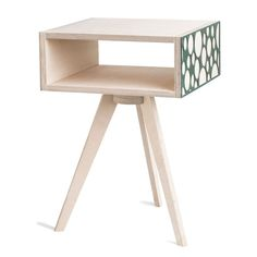 Bubble Bedside Table - Green Screen Creature Comforts, Table Legs, Pedestal, Bedside, Minimalism, Bubbles, Turquoise, Furniture, Green