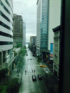 Drizzly day at the Seattle Convention Center.