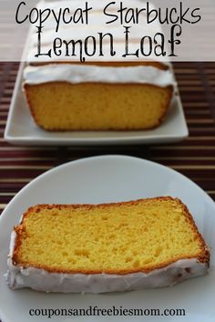 Copycat Starbucks Lemon Loaf - Coupons and Freebies Mom Yummy Treats, Delicious Desserts, Yummy Food, Starbucks Lemon Loaf, Baking Recipes, Dessert Recipes, Restaurant Recipes, Sweet Bread, Let Them Eat Cake