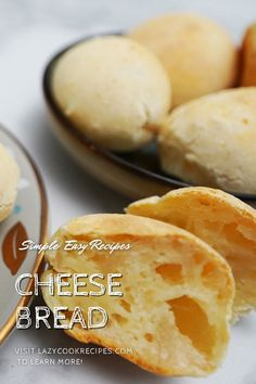 Cheese bread (Pão de queijo), originated from Brazil, is a round and small baked cheese bun. It is a great gluten free cheesy bread that is crispy outside but amazingly soft and chewy inside! It is an authentic Brazilian cuisine recipe with simplified steps and ingredients required! Check out our website where could you find the written step by step recipes with images and videos to teach you how to become a better cook at home!