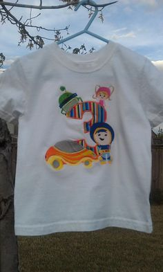 Team Umizoomi birthday number shirt by SewingDivas3 on Etsy