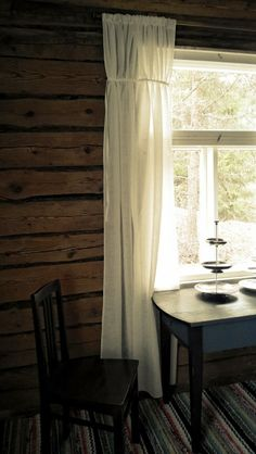 Rustic cottage interior.
