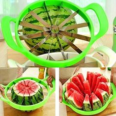 Fruit Melon Slicer Cantaloupe Watermelon  Cutter Cutting Kitchen Tool Stainless #Unbranded