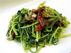 Spicy Sauteed Chinese Mustard Greens