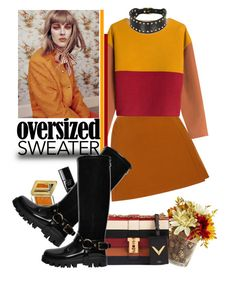 """fall sweater"" by iraavalon ❤ liked on Polyvore featuring Delpozo, Philosophy di Lorenzo Serafini, Estée Lauder, Chanel, Valentino, Dolce&Gabbana and Zana Bayne"