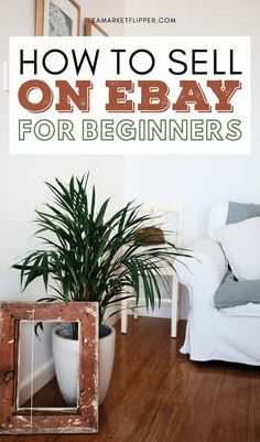 How To Sell On eBay for Beginners | Side Hustle Ideas Extra Cash | Wanting to start selling on eBay but don't know how? Click for eBay selling tips for you eBay side hustle and start making money online while you work from home flipping and reselling unwanted items from yard sales, thrift stores, and flea markets for cash to pay off debt or supplement your income. | Flipping Online | Flea Market Flipper | Reselling Business #eBay #eBaysellingtips #reselling #thrifting #flipping