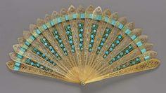 Ribbon Woven Brisé Minuet Fan, ca. 1810via MFA