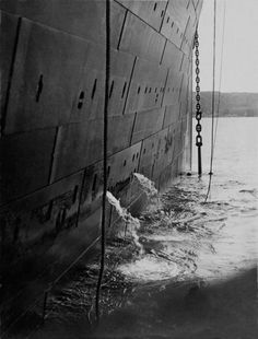 Raising the anchor for the last time, the Titanic departs Queenstown (Cobh), Ireland, at 1:55pm on April 11, 1912. Titantic Photographs by Fr. Francis Browne - LightBox