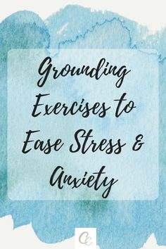 Grounding is a way to help bring you back to the present, and can be helpful when you're dealing with stress or anxiety. Try these exercises to find what helps make you feel the most grounded. Anxiety Tips, Anxiety Help, Stress And Anxiety, Work Stress, Anxiety Relief, Stress Relief, Grounding Exercises, Stress Exercises, Finding Inner Peace