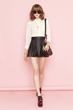 blouse short-skirt girlish