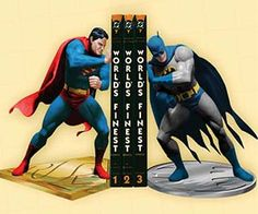 Superman and Batman Bookends  Awe in amazement as you watch two of Earths mightiest heroes use their brute strength to hold up your books with the Superman and Batman bookends. This geeky bookend pits the caped crusader against the first son of Krypton in an explosive battle.  $249.99  Check It Out  Awesome Sht You Can Buy