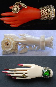 Hands and eyes are a popular motif in jewelry, especially in victorian jewelry.