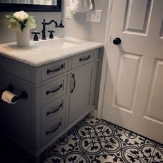 Drawing inspiration from artisan cement tiles, the Artea 9.75 x 9.75 Porcelain Field Tile is a gorgeous tribute to encaustic design. This porcelain tile features a large floral old-world pattern in…