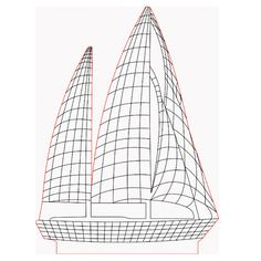 Sailboat 3d illusion lamp vector file for CNC - 3bee-studio