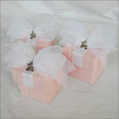 Huge #Sale #Girls #BabyShower #Favor Boxes With Silver #Carriage Charm by JaclynPetersDesigns Set Of 48 $125.00 Ready To Ship Next Business Day