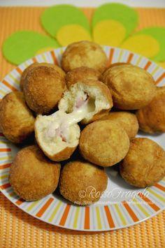 Bombette filanti - ricetta con patate - Rosso Fragola http://blog.giallozafferano.it/myrossofragola/bombette-filanti/